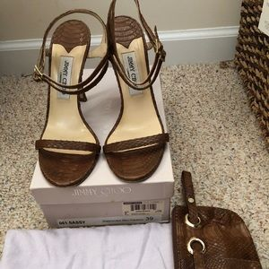 Shoes with matching purse/clutch
